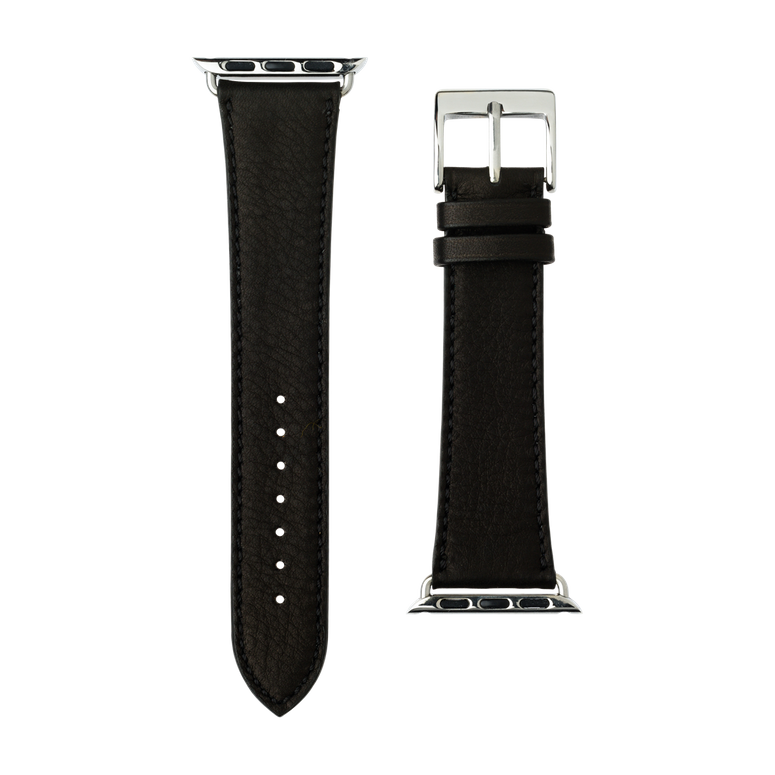 Correa para Apple Watch de piel sauvage en negro | Roobaya – Bild 3