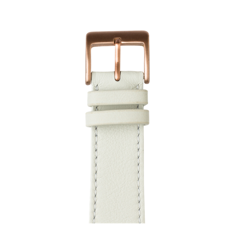 Bracelet Apple Watch cuir sauvage blanc | Roobaya – Bild 2