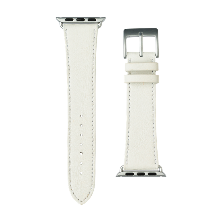 Bracelet Apple Watch cuir sauvage blanc | Roobaya – Bild 3