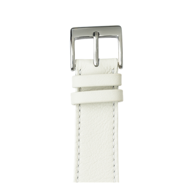 Bracelet Apple Watch cuir sauvage blanc | Roobaya – Bild 1
