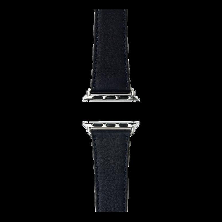 Sauvage Leder Armband in Dunkelblau für die Apple Watch Series 1, 2, 3 & 4 in 38mm, 40mm, 42mm & 44mm Gehäusegröße von Roobaya - Made in Germany – Bild 4