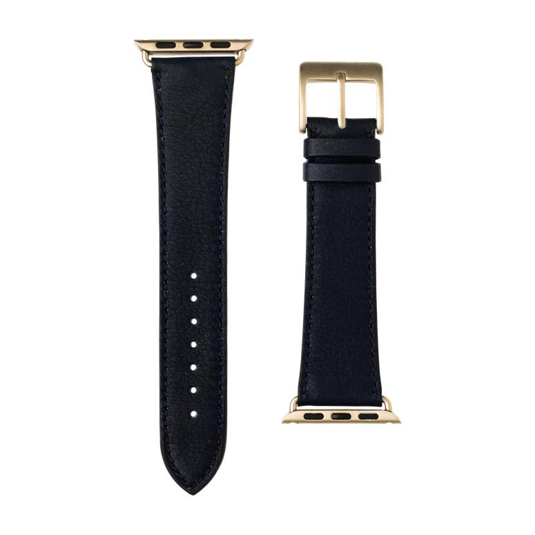 Bracelet Apple Watch cuir sauvage bleu foncé | Roobaya – Bild 3