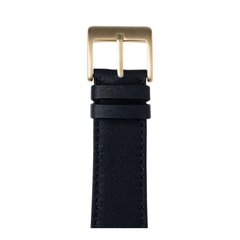 Sauvage Leder Armband in Dunkelblau für die Apple Watch Series 1, 2, 3 & 4 in 38mm, 40mm, 42mm & 44mm Gehäusegröße von Roobaya - Made in Germany – Bild 2