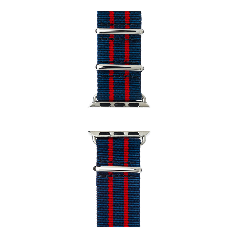 Apple Watch band NATO nylon dark blue/red/red | Roobaya – Bild 5