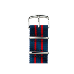 Apple Watch band NATO nylon dark blue/red/red | Roobaya