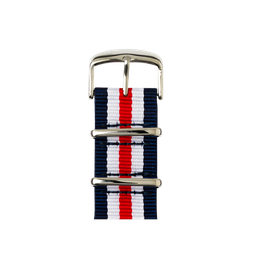 Apple Watch band NATO nylon dark blue/white/red | Roobaya