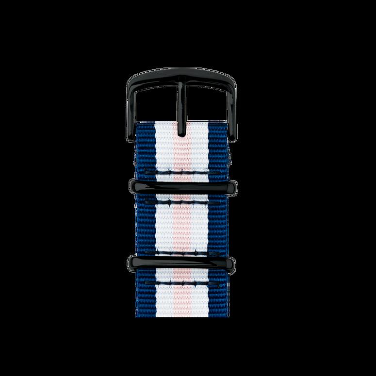 Apple Watch band NATO nylon medium blue/white/light pink | Roobaya – Bild 2