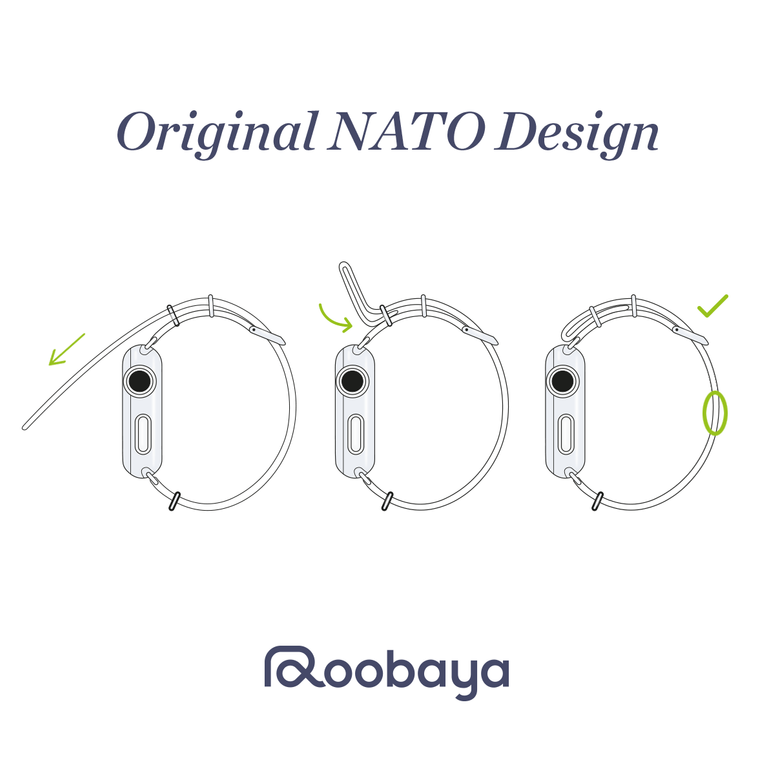 Correa para Apple Watch de nailon NATO en celeste | Roobaya – Bild 3