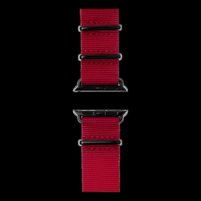 Correa para Apple Watch de nailon NATO en rojo cereza | Roobaya – Bild 4