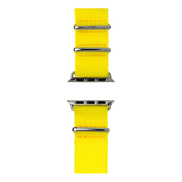 Correa para Apple Watch de nailon NATO en amarillo | Roobaya – Bild 5