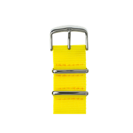 Correa para Apple Watch de nailon NATO en amarillo | Roobaya