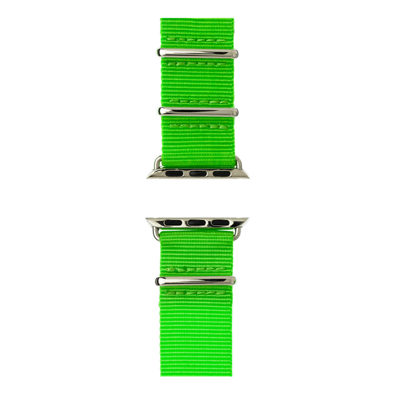 Bracelet Apple Watch nylon Nato vert clair | Roobaya – Bild 5