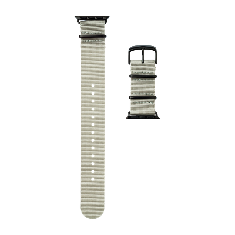 Apple Watch band NATO nylon light gray | Roobaya – Bild 4