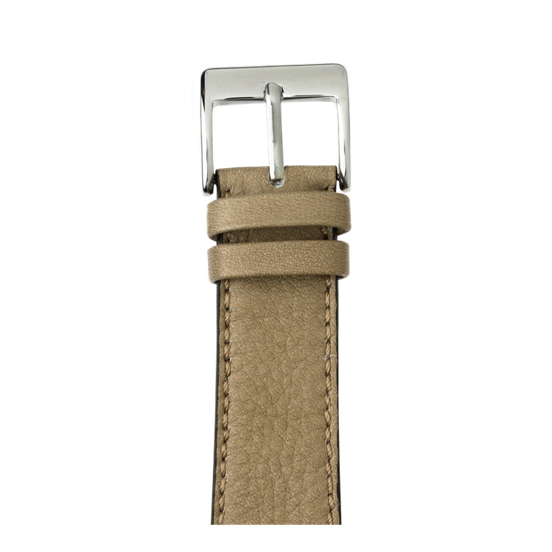 Bracelet Apple Watch cuir sauvage gris clair | Roobaya – Bild 1