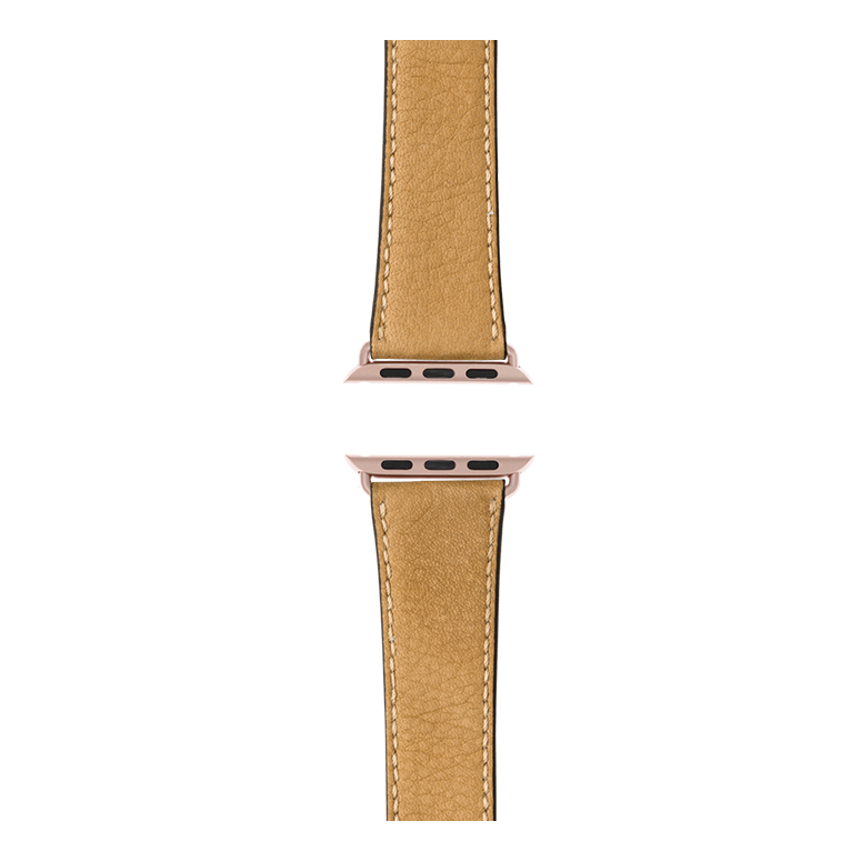 Apple Watch Lederarmband Sauvage Sand | Roobaya – Bild 4
