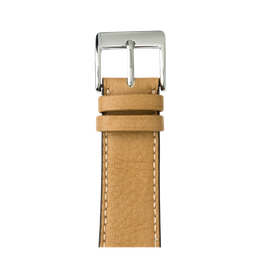 Sauvage Leder Armband in Sand für die Apple Watch Series 1, 2, 3 & 4 in 38mm, 40mm, 42mm & 44mm Gehäusegröße von Roobaya - Made in Germany