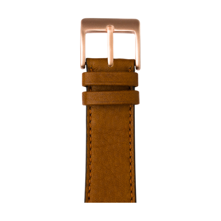 Cinturino Apple Watch in pelle sauvage color cognac | Roobaya – Bild 2