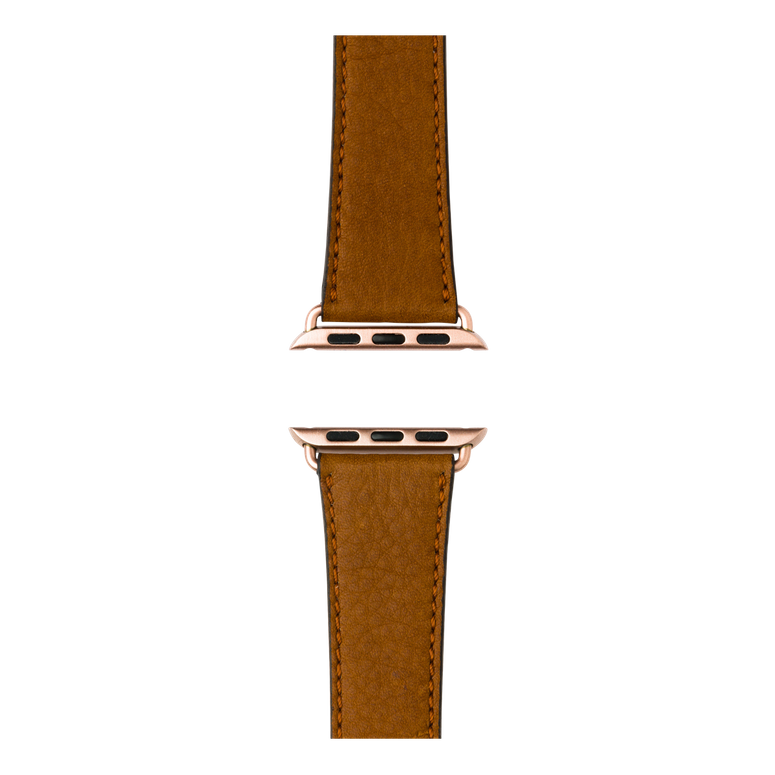Cinturino Apple Watch in pelle sauvage color cognac | Roobaya – Bild 4