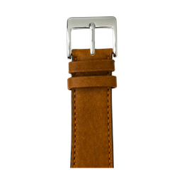 Sauvage Leder Armband in Cognac für die Apple Watch Series 1, 2, 3 & 4 in 38mm, 40mm, 42mm & 44mm Gehäusegröße von Roobaya - Made in Germany