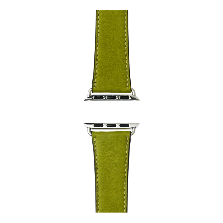 Cinturino Apple Watch in pelle sauvage color verde muschio | Roobaya – Bild 4