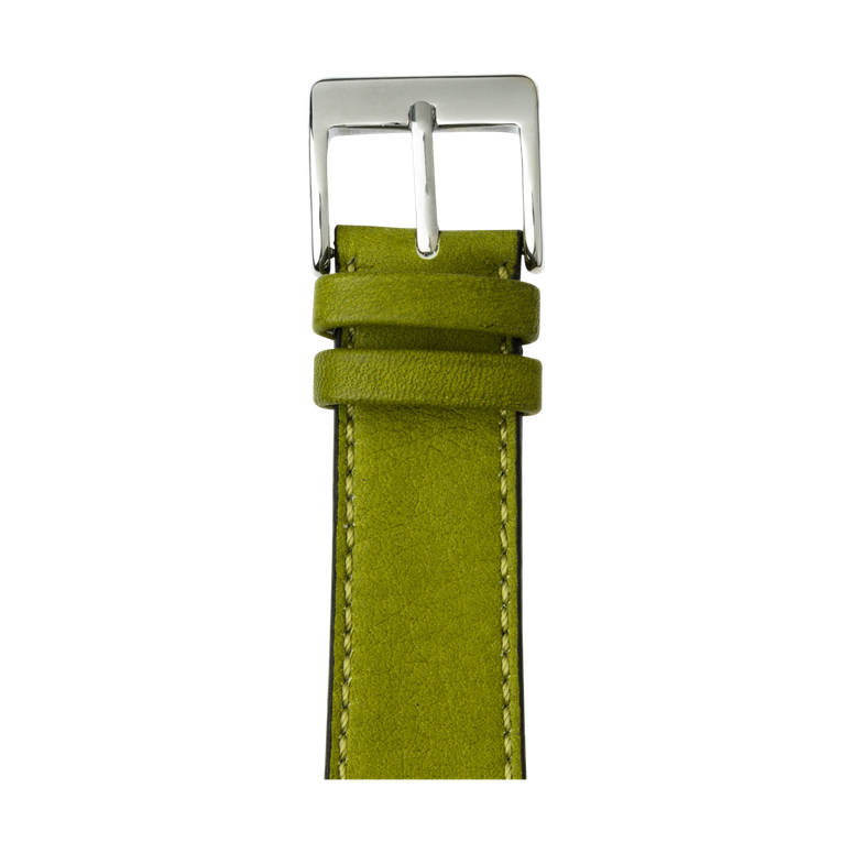 Cinturino Apple Watch in pelle sauvage color verde muschio | Roobaya – Bild 1