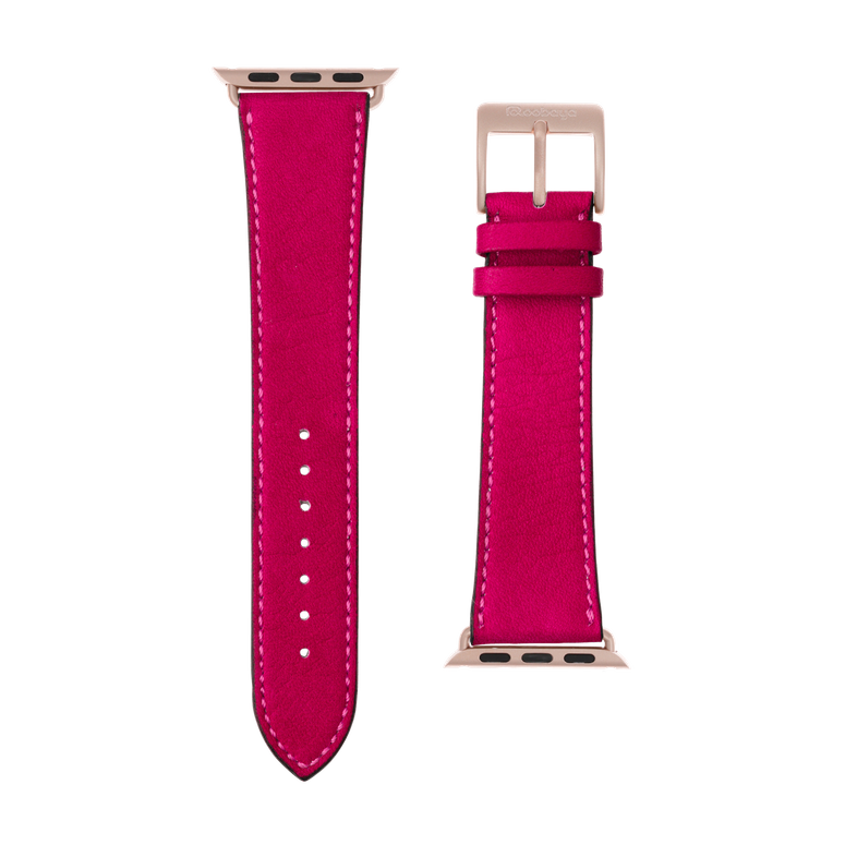 Cinturino Apple Watch in pelle sauvage rosa | Roobaya – Bild 3