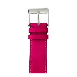 Sauvage Leder Armband in Pink für die Apple Watch Series 1, 2, 3 & 4 in 38mm, 40mm, 42mm & 44mm Gehäusegröße von Roobaya - Made in Germany