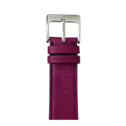 Sauvage Leder Armband in Violett für die Apple Watch Series 1, 2, 3 & 4 in 38mm, 40mm, 42mm & 44mm Gehäusegröße von Roobaya - Made in Germany