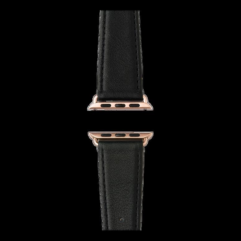 Bracelet Apple Watch cuir nappa noir | Roobaya – Bild 4