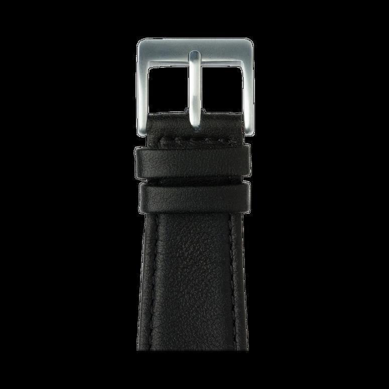 Nappa Leder Armband in Schwarz für die Apple Watch Series 1, 2, 3 & 4 in 38mm, 40mm, 42mm & 44mm Gehäusegröße von Roobaya - Made in Germany – Bild 2