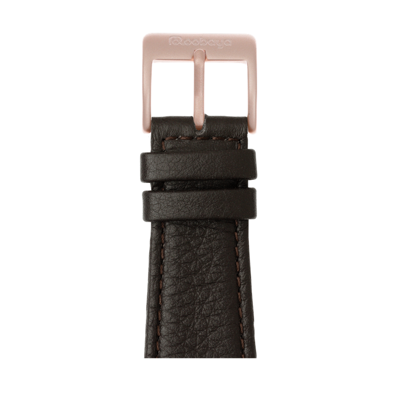 Apple Watch band nappa leather dark brown | Roobaya – Bild 2