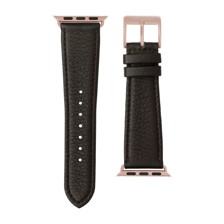 Apple Watch band nappa leather dark brown | Roobaya – Bild 3