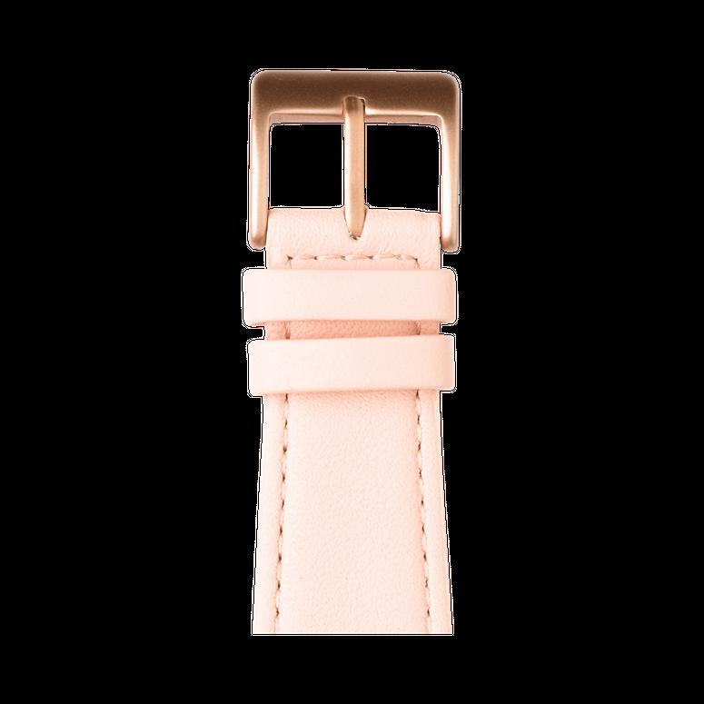 Nappa Leder Armband in Hellrosa für die Apple Watch Series 1, 2, 3 & 4 in 38mm, 40mm, 42mm & 44mm Gehäusegröße von Roobaya - Made in Germany – Bild 2