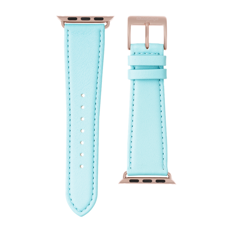 Apple Watch band nappa leather light blue | Roobaya – Bild 3