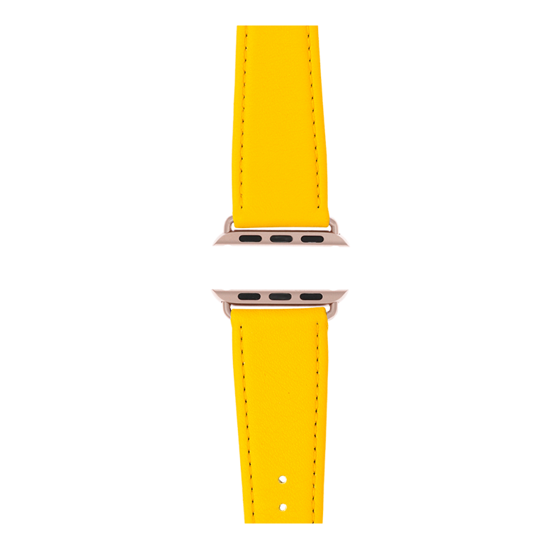 Apple Watch band nappa leather yellow | Roobaya – Bild 4