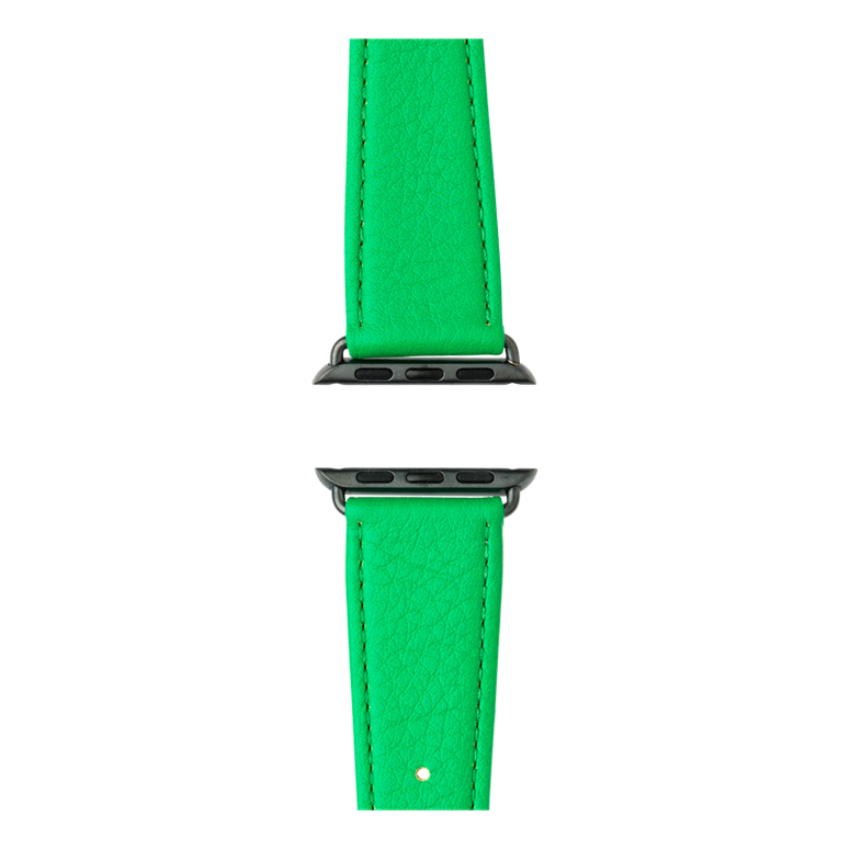 Cinturino Apple Watch in pelle nappa verde | Roobaya – Bild 4