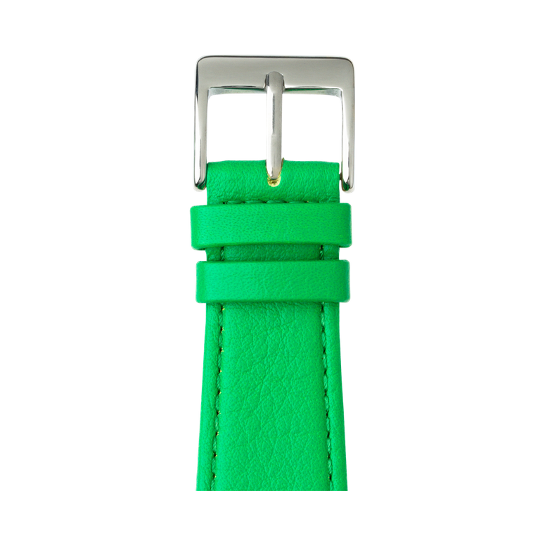 Cinturino Apple Watch in pelle nappa verde | Roobaya – Bild 1