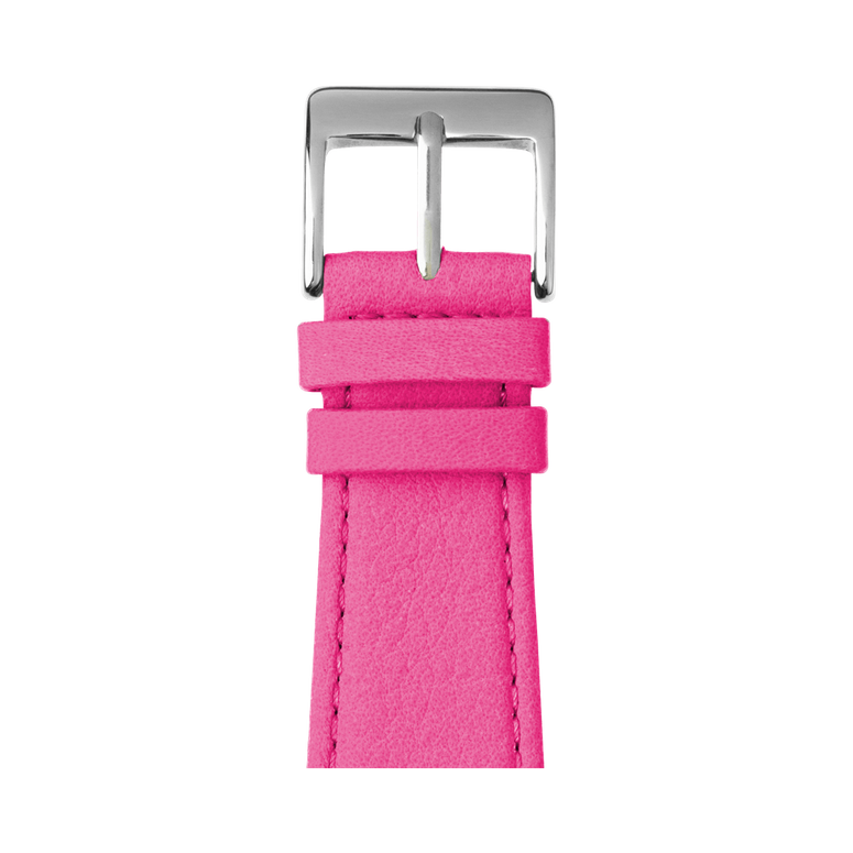 Bracelet Apple Watch cuir nappa rose | Roobaya – Bild 1
