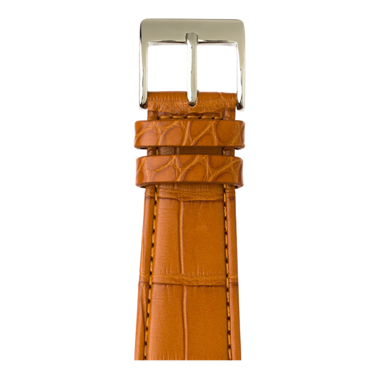 Bracelet Apple Watch cuir alligator cognac | Roobaya – Bild 1