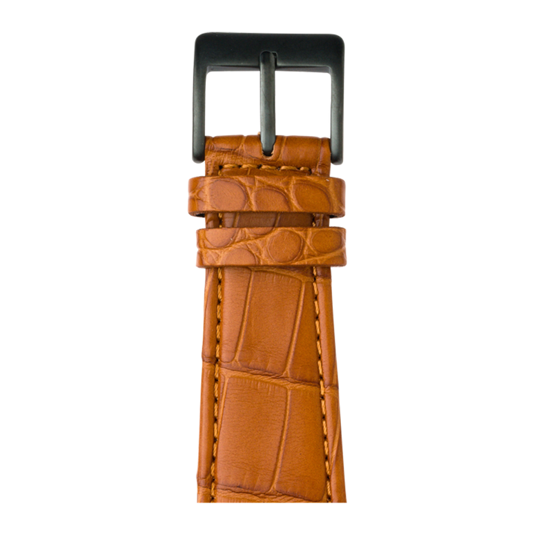 Bracelet Apple Watch cuir alligator cognac | Roobaya – Bild 2