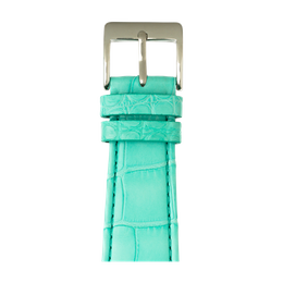 Bracelet Apple Watch cuir alligator turquoise | Roobaya