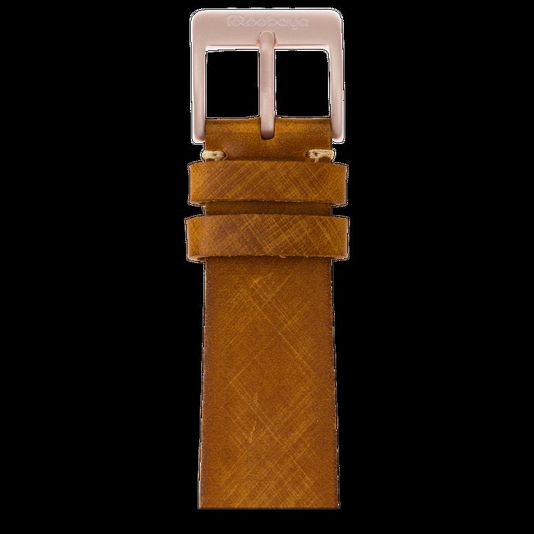 Vintage Leder Armband in Mittelbraun für die Apple Watch Series 1, 2, 3 & 4 in 38mm, 40mm, 42mm & 44mm Gehäusegröße von Roobaya - Made in Germany – Bild 2