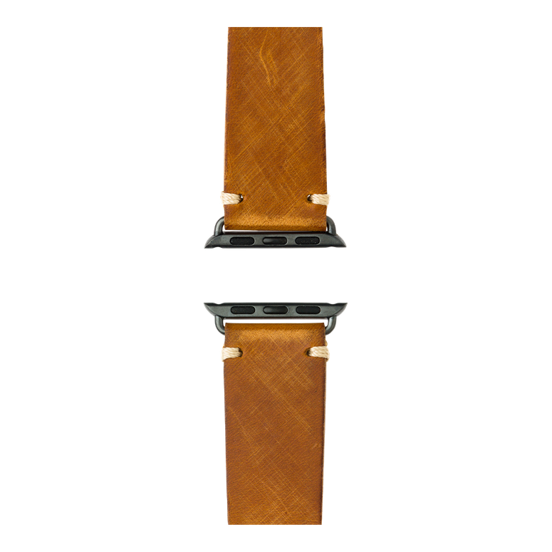 Apple Watch band vintage leather medium brown | Roobaya – Bild 4