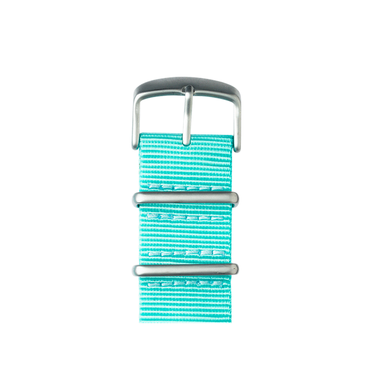 Apple Watch band NATO nylon turquoise | Roobaya – Bild 2