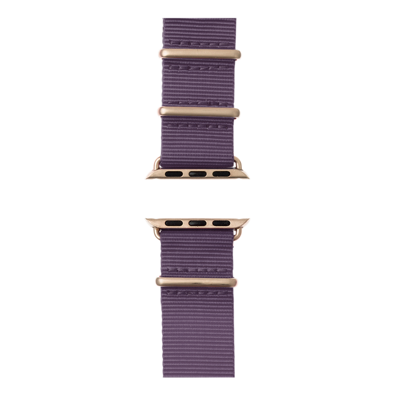 Bracelet Apple Watch nylon Nato lilas | Roobaya – Bild 5