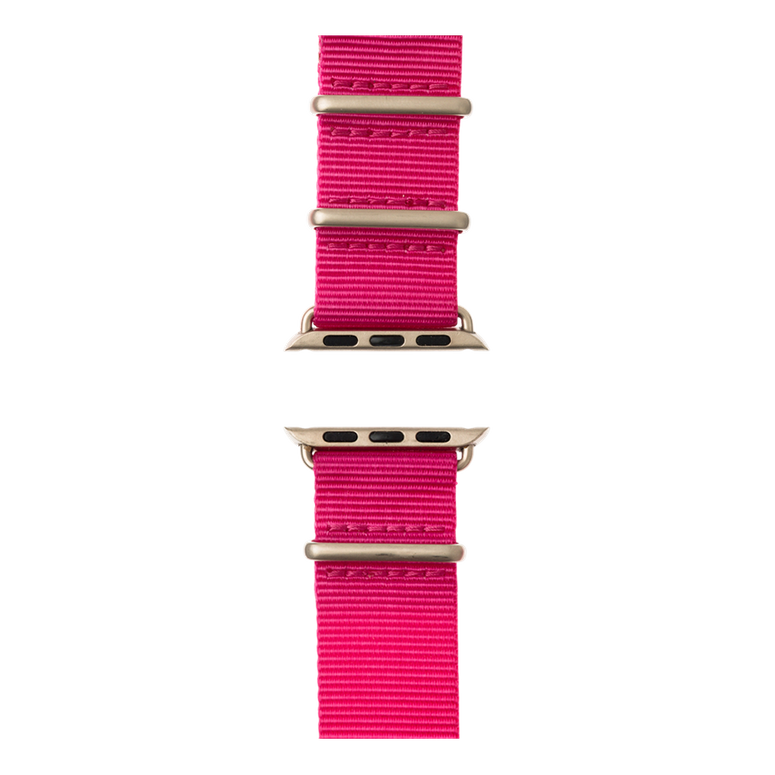 Correa para Apple Watch de nailon NATO en rosa | Roobaya – Bild 5