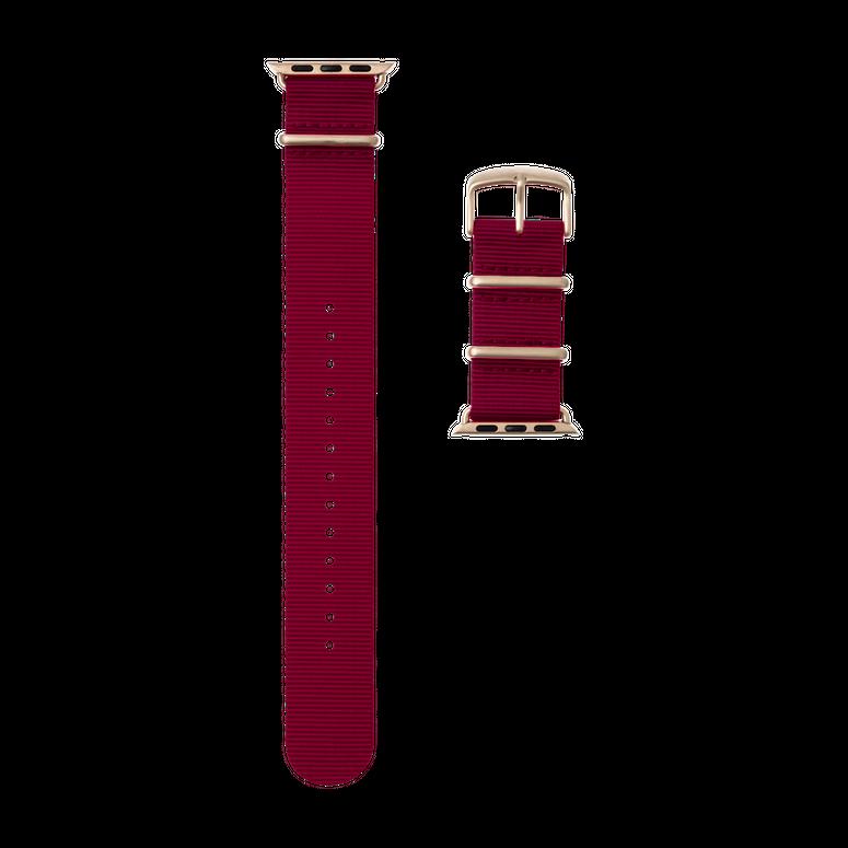 Apple Watch Armband Nato Nylon Bordeaux | Roobaya – Bild 3