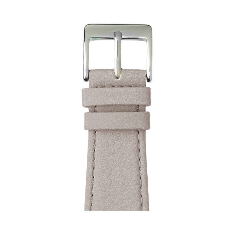 Bracelet Apple Watch cuir nappa gris clair | Roobaya – Bild 1