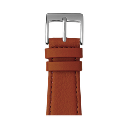 Nappa Leder Armband in Cognac für die Apple Watch Series 1, 2, 3 & 4 in 38mm, 40mm, 42mm & 44mm Gehäusegröße von Roobaya - Made in Germany
