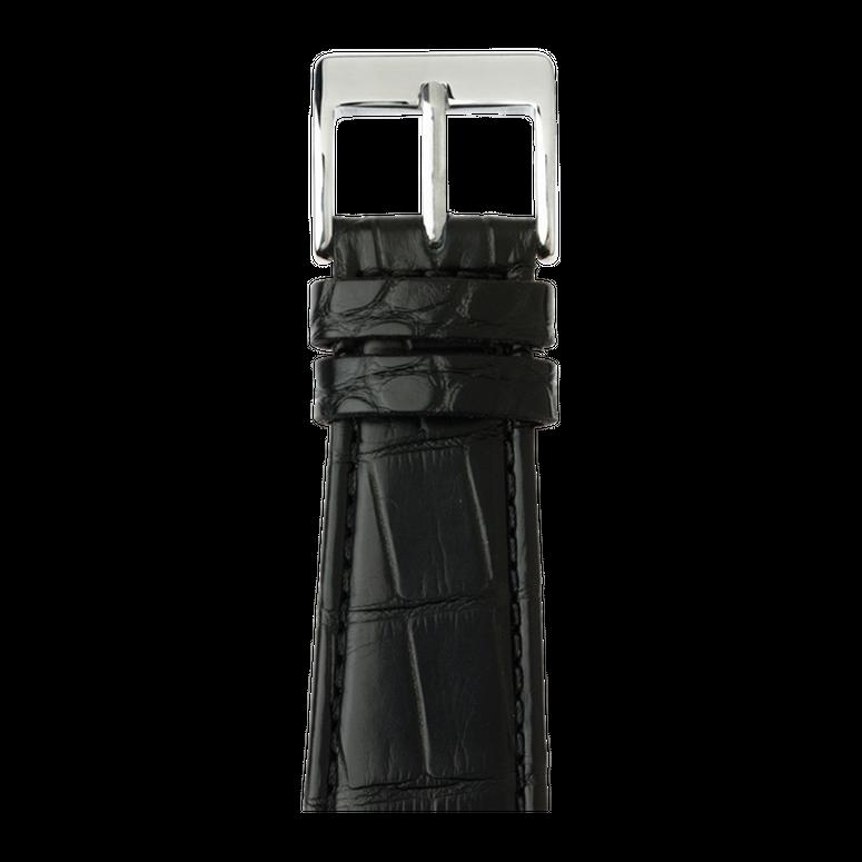 Apple Watch Lederarmband Alligator Schwarz | Roobaya – Bild 1